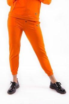 3 FOR U - Spodnie Dresowe Orange z nadrukiem