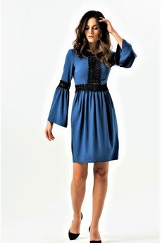 my image art - Sukienka mini z gipiurowymi wstawkami So chic