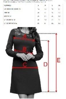 numoco - 291-1 MOIRA Trapezowa sukienka z koronką