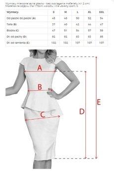 numoco - 192-11 Elegancka sukienka MIDI z baskinką - zamsz