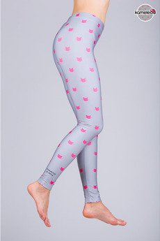 Kameleoo - Legginsy Movimientos de Gatoo - Gray