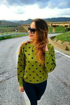 Kameleoo - Bluza Movimientos de Gatoo - Olive Green