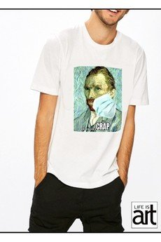 """Life is ART - T-shirt : """"Vincent w masce 1 """""""