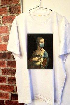"""Life is ART - T-shirt : """" Dama z łasiczką w masce """"."""