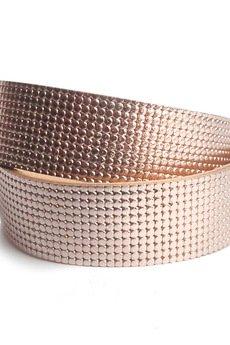Mikashka - Bransoletka skóra różowe złoto