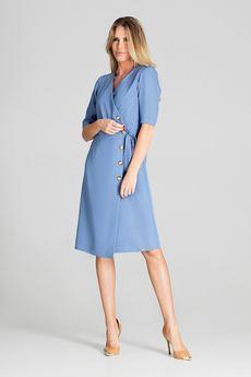 FIGL - Sukienka703 Niebieski
