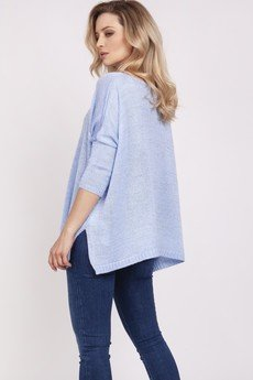 MKM swetry - Luźny sweterek - błękitny (SWE040)
