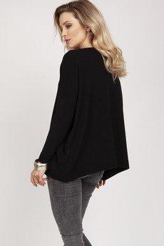 MKM swetry - Dzianinowa bluza - SWE222 czarny MKM