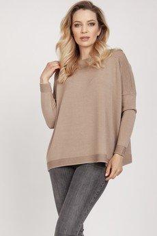 MKM swetry - Dzianinowa bluza - SWE222 mocca mkm