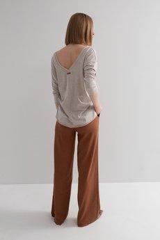 MeMola - Spodnie lniane z szerokimi nogawkami VICTORIA