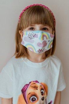 Hatafina  - Maska trzy warstwy CHMURY KIDS