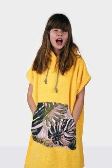 Surfponcho HugMe - Youth HUG żółty_liść