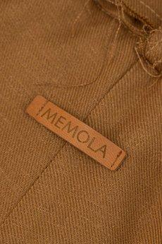 MeMola - Spodnie lniane z talią paper bag DARIA