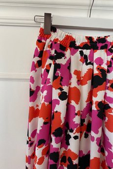 Elevenstory - Spódnica z rozporkami i kieszeniami Fuksia Pink