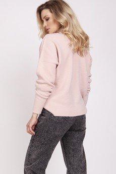 MKM swetry - Kardigan na guziki - SWE225 pastelowy róż MKM
