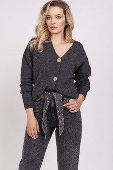 MKM swetry - Kardigan na guziki - SWE225 grafit MKM