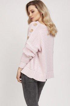 MKM swetry - Luźny sweter - SWE223 pastelowy róż MKM