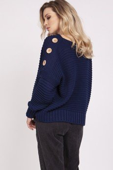 MKM swetry - Luźny sweter - SWE223 granat MKM