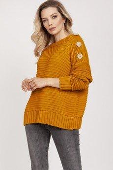 MKM swetry - Luźny sweter - SWE223 saffron MKM