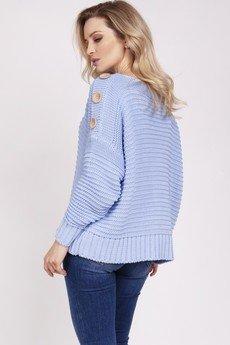 MKM swetry - Luźny sweter - SWE223 błękit MKM
