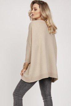 MKM swetry - Dzianinowa bluza - SWE221 beż MKM