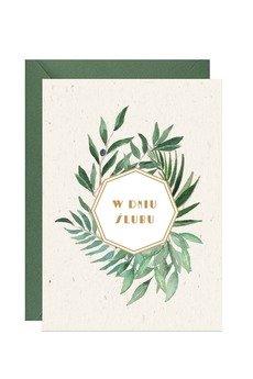 PAPERWORDS - Ślubna kartka z eukaliptusem