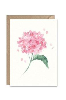 PAPERWORDS - Kartka z akwarelową hortensją
