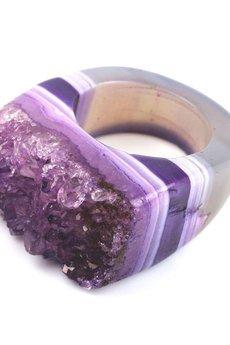Brazi Druse Jewelry - InspRING Agat Druza Fiolet