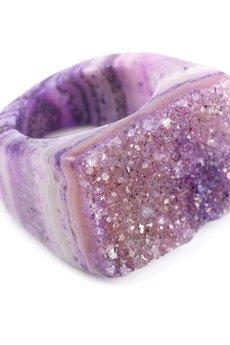 Brazi Druse Jewelry - InspRING Agat Wrzosowy rozmiar 18