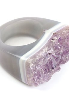 Brazi Druse Jewelry - InspRING Ametyst Druza rozmiar 18