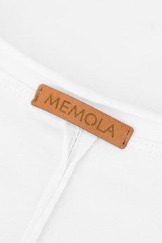 MeMola - Bluzka z bawełny z dekoltem w serek LIDIA