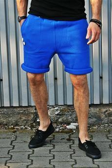 Button - SHORT PANTS 2 BUTTONS - szorty chabrowe