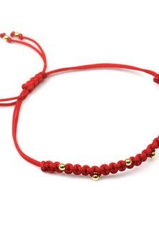Brazi Druse Jewelry - Bransoletka Makrama Czerwona złoto