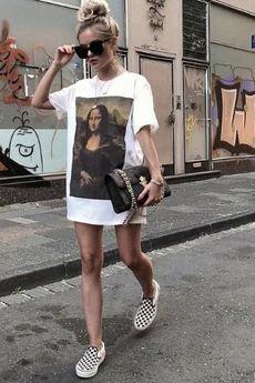 MY! OH MY. old - T shirt MONA LISA