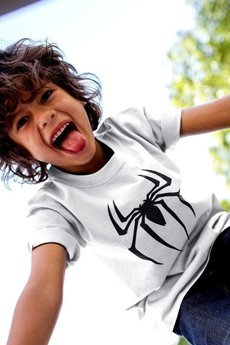 MY! OH MY Kids - T shirt SPIDER WHITE & maseczka