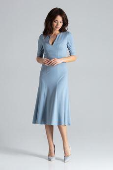 LENITIF - Sukienka K478 Niebieski