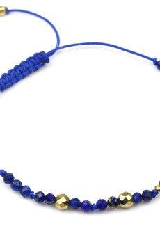Brazi Druse Jewelry - Bransoletka Lapis Lazuli i Hematyt złoto