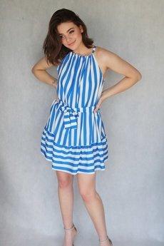 END OF THE DAY - Letnia sukienka w niebieskie pasy SUMMER