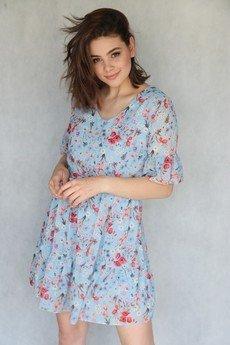 END OF THE DAY - Boho sukienka w kwiaty granatowa MIA
