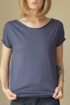 ONE MUG A DAY - Niebieski rekin czysty oversize tshirt s-xl