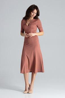 LENITIF - Sukienka K478 Brąz