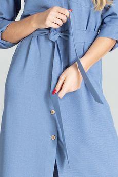 FIGL - Sukienka701 Niebieski