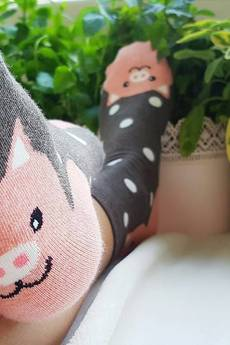 CandySox.PL - Skarpetki ze świnką i uszami 3D