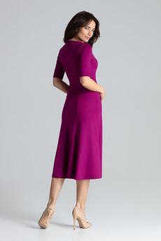 LENITIF - Sukienka K478 Fuksja