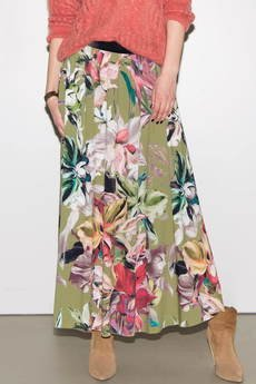 Candy Floss - Spódmica Maxi FlowersOn Olive
