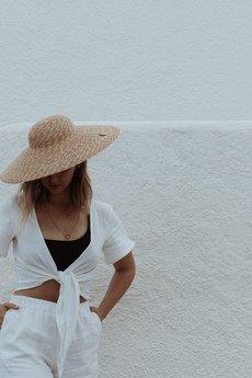 Tropiko Swimwear - TOP LNIANY WIĄZANY MULTIWAY NICEA biały