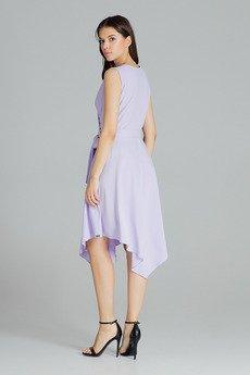 LENITIF - Sukienka L080 Fiolet