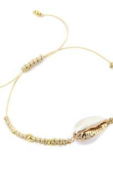 Brazi Druse Jewelry - Bransoletka Muszla złoto