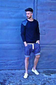 Button - Button jeans short pants krótkie spodenki