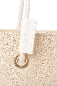 GAWOR - Beżowy worek na zakupy na plażę